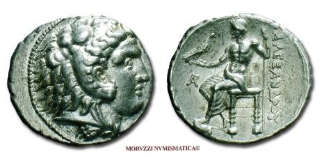 Il tetradramma di Alessandro Magno proposto dalla Moruzzi Numismatica