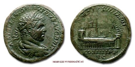 37454da994 Le monete di Caracalla, tra le quali questo sesterzio di Caracalla,  proposte dalla Moruzzi
