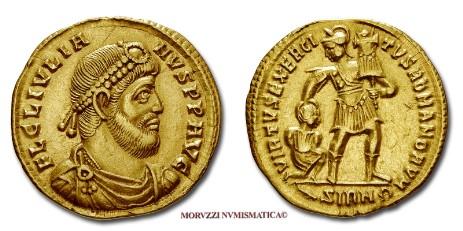 c927f11864 Le monete di Giuliano II, tra le quali questo solido di Giuliano l'Apostata