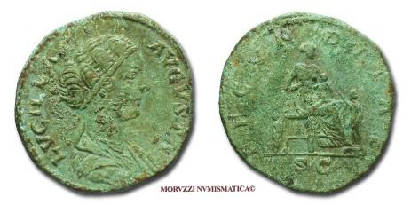 9123e7c557 Le monete di Lucilla, tra le quali questo sesterzio di Lucilla, proposte  dalla Moruzzi