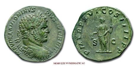 125adfe94b Le monete romane: il sesterzio di Caracalla proposto dalla Moruzzi  Numismatica