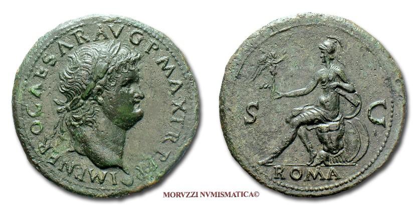 9205c05e9d Le monete romane imperiali: il sesterzio di Nerone proposto dalla Moruzzi  Numismatica
