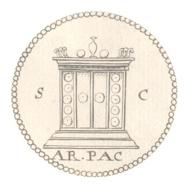 the ara pacis on roman coins