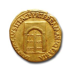 temple of janus on aureus of nero